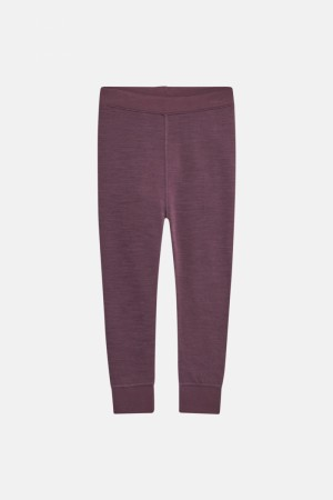 Leggings Merinoull Plomme