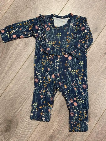 Bambusheldress Blomster Blues
